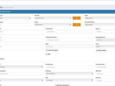 Real Estate Website Custom Admin panel