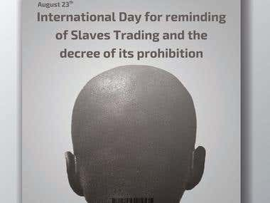 international day of slavery trading poster for the UN