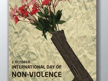 International do of non-violence poster for the UN