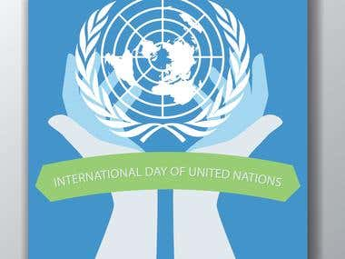 International day on the United Nations poster design