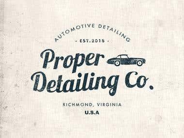 Proper Detailing Logo Design