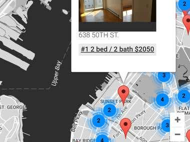 Realty firm's internal map - wordpress plugin and theme