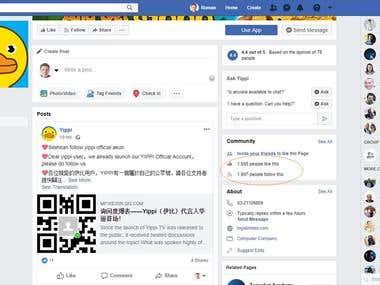 Facebook campaigns CPI $0.46 / 42k app installs