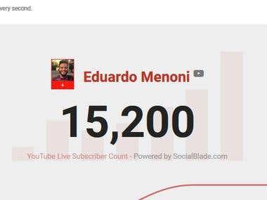 Suscriptores de mi canal de Youtube Eduardo Vlogueando
