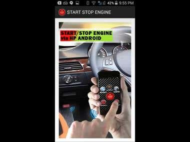 Start Stop Engine And Voice control for car
