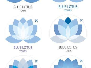 Logo Design - blue lotus travels