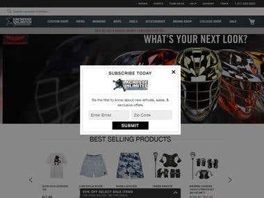 Magento Shopping Site