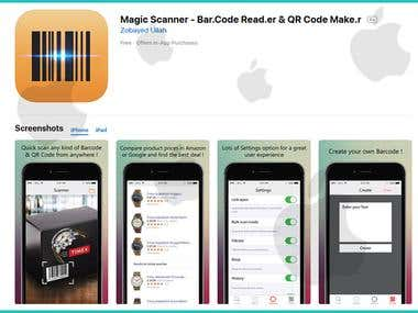 Magic Barcode Scanner iOS App