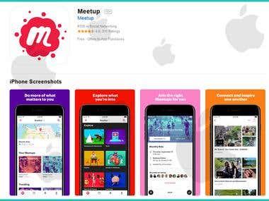 Meetup Social iOS App