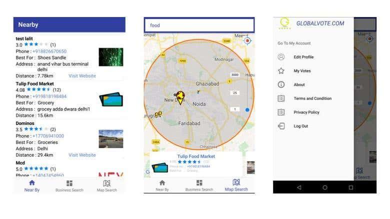 GlobalVote - Web+Android+IOS | Freelancer