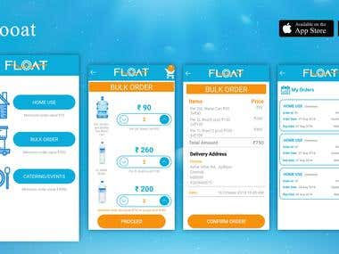 Flooat - Water Bottles Booking App