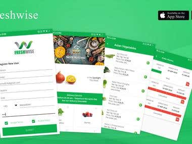 FreshWise , Wholesale Grocery Shopping App