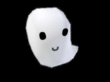 low poly ghost