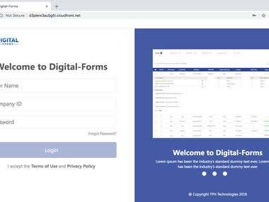 Digital Forms Web Application