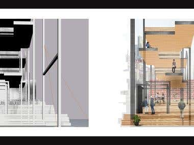 Architectural collage