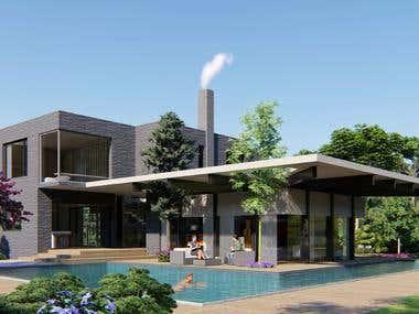 Villa Model & Render
