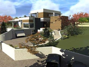 modern house -- RESIDENTIAL architecture