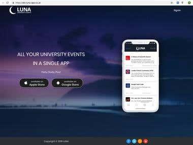 LUNA (University Event Management) + mobile app