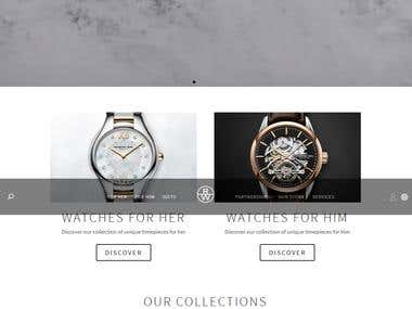 Website for luxury watches