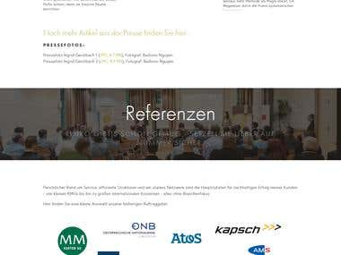Multilingual Squarespace website