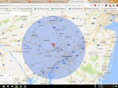 Research for the churches in 40 miles radius on google map