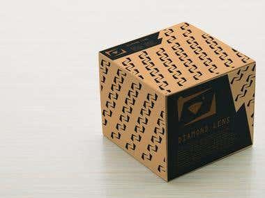 Diamond lens packaging