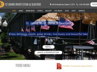 Restaurant Website - https://stjrss.com/ (Florida, USA)