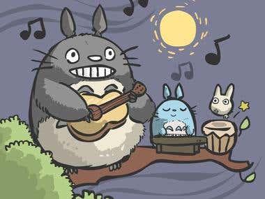 Totoro drawing