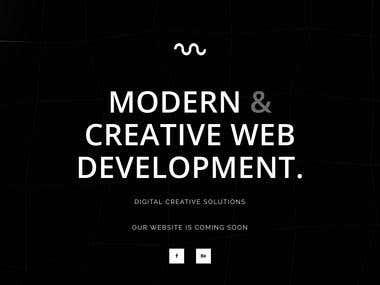 Landing Page - Digital Creative Agency