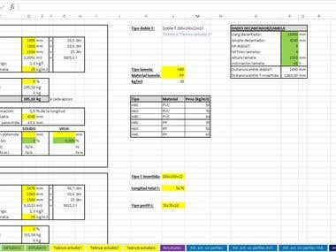 Excel calculation of structure + price