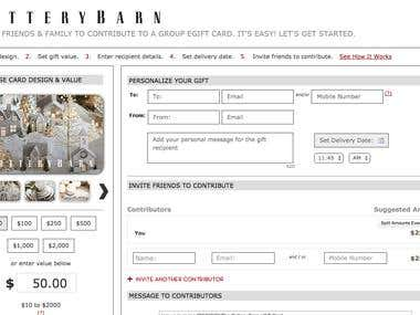 Pottery Barn EGiftcard Store