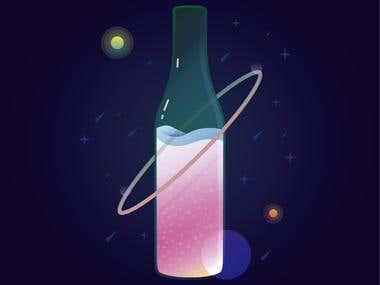 creacoin de botella para folleto de Fernet