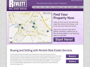 Revlett Real Estate Services website design and development
