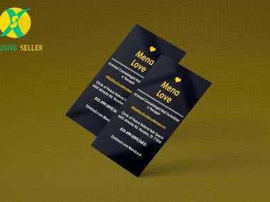 Mena Love - Creative Business Card Design