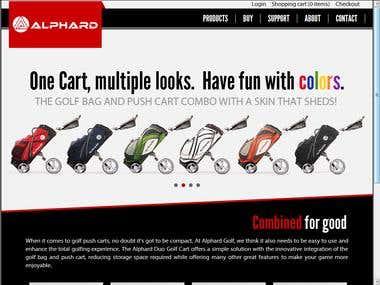www.alphardgolf.com Ecommerce website