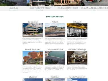 CMS WordPress. Construction company