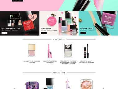 CMS Opencart. Perfumes online store