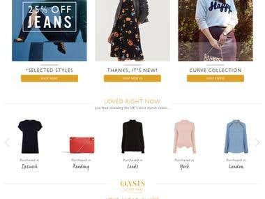 oasis store website