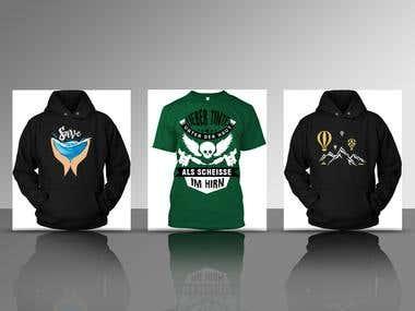 Tshirt & Hoodies Design for our clients