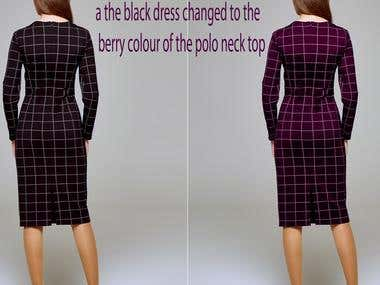 Change the colour of garment