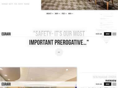 Plastic surgery clinic Website.