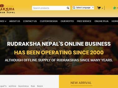 Rudrakash (eCommerce site built on Cs-Cart)