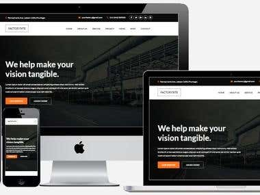 Factory Bootstrap Template