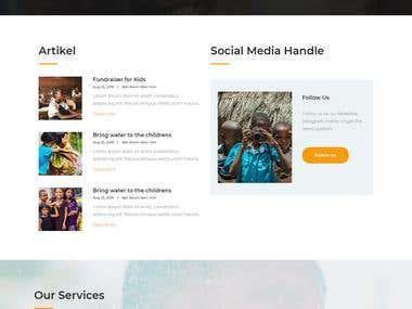 Wordpress Based Charity Website