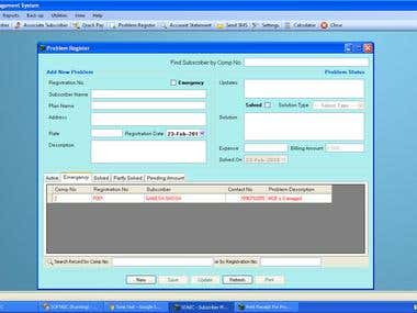 Complete ERP Application for generator service provider
