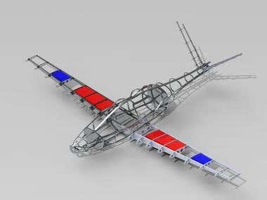 Airframe structure using solidworks