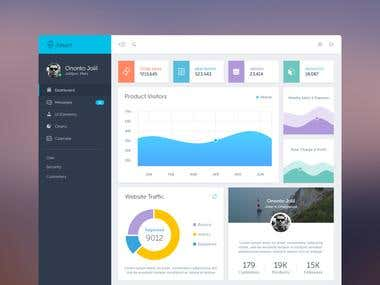 Sales Management Admin Dashboard