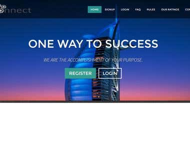 Investment management system homepage