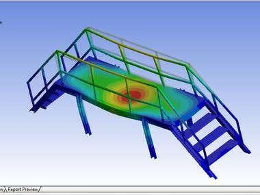 Steel Structure Bridge FEA