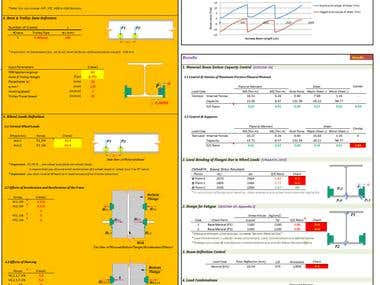 Excel-VBA; Design of Monorail Beam Cranes